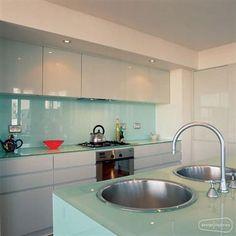 30 best glass backsplashes images kitchens home kitchens kitchen rh pinterest com Range Backsplash with Glass Covering Blue Glass for Kitchen Backsplash Ideas