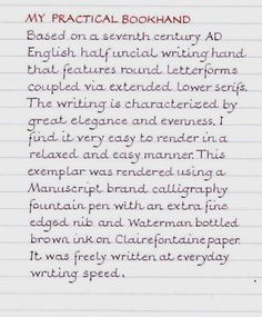 """""""Please Print"""" - Page 2 - Calligraphy Discussions - The Fountain Pen Network - James Pickering"""