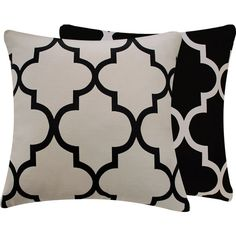 Hey, I found this really awesome Etsy listing at https://www.etsy.com/listing/124592449/quatrefoil-black-cream-pillow-cover