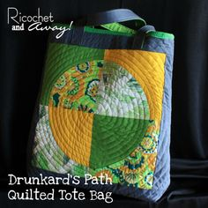 My Curved Seams Challenge project is finally done! I posted about the beginning stages of my project HERE . I used a great tutorial. Quilted Tote Bags, Reusable Tote Bags, Drunkards Path Quilt, Quilt Tutorials, Handmade Bags, Bag Making, Purses And Bags, Totes, Challenge