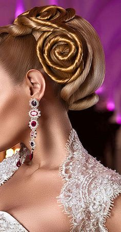 The hair is art!  And look at the beautiful  Earrings.