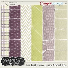 {I'm Just Plum Crazy About You} Digital Worn Papers by Ooh La La Scraps available at Gingerscraps http://store.gingerscraps.net/I-m-Just-Plum-Crazy-About-You-Worn-Papers.html #digiscrap #digitalscrapbooking #oohlalascraps #imjustplumcrazyaboutyou