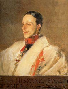 Alfonso XIII Con uniforme de Húsares Por Joaquin Sorolla Bastida