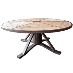 Industrial Italian Vintage Round Table