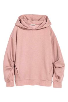 See this and similar hoodies - Oversized hooded top: Oversized top in sweatshirt fabric with a lined hood, low dropped shoulders and diagonal side pockets. Hoodie Sweatshirts, Pullover Hoodie, Long Hoodie, Sweater Hoodie, Sweatshirt Outfit, Moda Oversize, Oversized Tops, Oversized Pink Hoodie, Pink Long Sleeve Tops