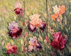pictura u/p, 76cm/61cm, 2016 Iris, Oil On Canvas, Painting, Irises, Painted Canvas, Painting Art, Paintings, Oil Paintings