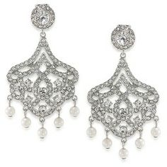 Girls Night Out Crystal Chandelier Clip On Earrings