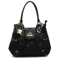 Cheap And Fashion Coach Snap Flap In Signature Large Black Satchels BNF Are Here!