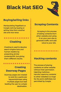Black hat #SEO is the use of aggressive techniques that focus only on search engine instead of human audience. Websites get penalized because of these practices. Find out the different techniques that are considered as black hat and how you can avoid them. #SEOtechniques #Google