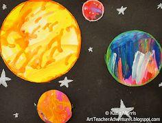 Adventures of an Art Teacher: Best Art Class Ever- 6th Grade Planets