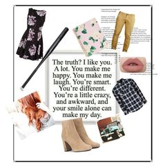"""""""guess the couple <3"""" by sallozsofi on Polyvore featuring ban.do, United by Blue and Yves Saint Laurent"""
