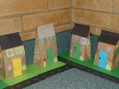 Neighborhood Project, Fun New Book Kindergarten Crafts, Preschool Learning Activities, Preschool Crafts, Preschool Activities, 1st Grade Crafts, Projects For Kids, Crafts For Kids, Preschool Social Studies, Preschool Family