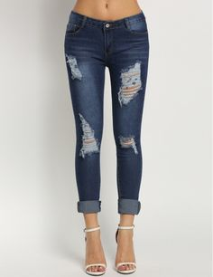 These Dark Wah Jeans Can Be Easily Paired For An Elegant Evening Or A Friday Night Party!