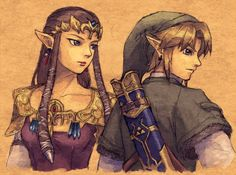 Zelda and Link from Twilight Princess