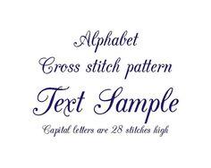 Cross stitch pattern Alphabet cross stitch by evascreation on Etsy