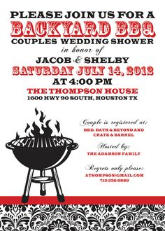 BBQ Wedding Shower Invitation
