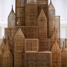 Compound    		Installation by Sopheap Pich for Singapore Biennale 2011.Cambodian artist Sopheap Pich's sculptures respond to and connect with  his surroundings. After training in the United States and France, Pich  returned to Cambodia and began using local materials such as rattan,  bamboo and burlap that are primarily used in craft and agriculture.