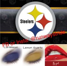 Calling all those #NFL #football #fans. #Lipsense and #Shadowsense by #Senegence gives you moisturizing 18 hour color that is #vegan #waterproof #sweatproof #kissproof #smudgeproof color for your favorite team. The lipcolor won't come off when you eat or drink. #gameready #fanzone  #pittsburgh #pittsburglove #steelersfan #pittsburghpa #pittsburghsteelers #steelers #herewego #steelerschick #steelerscheerleader #steelersnation