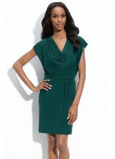 Wholesale V-neck Short Polyester Column Short Sleeve Party Dresses - Wedding Dresses