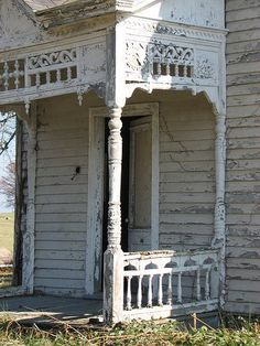 I wonder how long, cumulatively, it took to craft all of the elements of this porch. It's not large, and for the era, it isn't particularly ornate...but today we would just pneumatically nail up some dimensional lumber, paint it, shingle the top, and call it a porch. That ain't no porch. THIS is a porch!