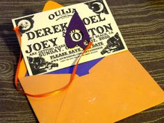 halloweenblogfuckyeah:    Ouija Board Halloween party/wedding invitations!    These are the save the dates from my wedding!