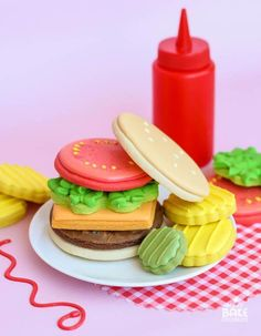 Build Your Own Burger Cookies #cakedecorating