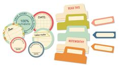 9 to 5 scrapbooking collection | by October Afternoon | ACCESSORIES | Tid Bits