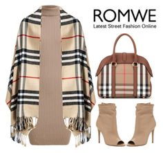 """Romwe.com Contest"" by bage ❤ liked on Polyvore featuring Rumour London and Burberry"