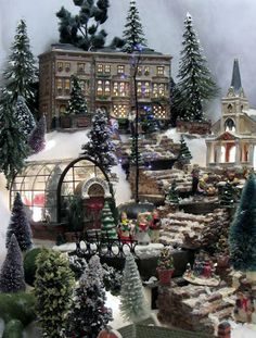 The ultimate Christmas Village..Moments of Delight...Anne Reeves