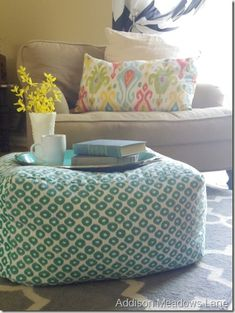 West Elm knock-off floor pouf | Addison Meadows Lane