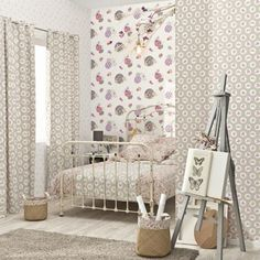 Papel pintado Caselio Love Ref. Girly, Love Wallpaper, Arabesque, Decoration, Bassinet, Toddler Bed, Collection, Modern, Fabric