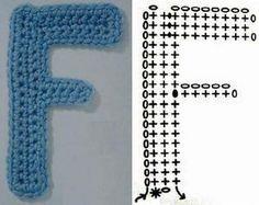 Crochet Letter Patterns - Beautiful Crochet Patterns and Knitting Patterns Alphabet Au Crochet, Crochet Letters Pattern, Crochet Square Patterns, Letter Patterns, Crochet Motif, Crochet Stitches, Free Crochet, Knit Crochet, Knitting Patterns