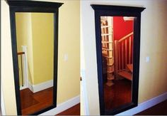 Secret door through a mirror.