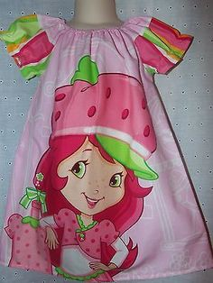 Girls Handmade Strawberry Shortcake Dress Boutique Sz.4t-5t ,Ready to ship