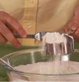 The best way to measure dry ingredients for baking.