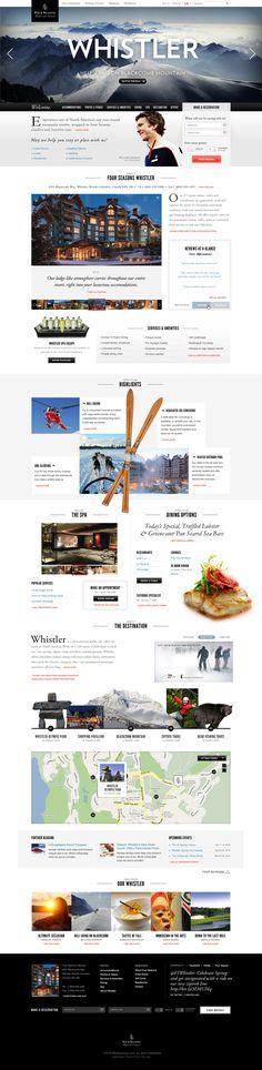 Four Seasons Whistler website design ~ Megan Man Pop Design, Web Ui Design, Web Design Trends, Graphic Design, Website Layout, Web Layout, Layout Design, Website Menu, Nice Website