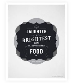 Art Print, Typographic Poster, Food Quotes, Kitchen Art, Kitchen Decor, 8.5x11