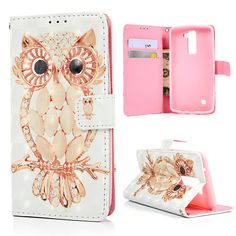 Lovely Phone Cases for LG Flip Stand PU Leather Wallet Case Cover Relief Carved Color Painted Shell for LG Card Slot Lg Cases, Cool Phone Cases, Iphone Cases, Phone Watch For Kids, Sprint Cell Phone Deals, Cell Phones In School, Lg Phone, Phone Wallet, Iphone Gadgets