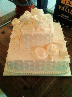 Samall Weading Scuare Cakes