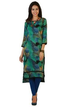 LadyIndia.com # Cotton Kurti, Trendy Multicolor Designer Kurti For Women, Kurtis, Kurtas, Cotton Kurti, https://ladyindia.com/collections/ethnic-wear/products/trendy-multicolor-designer-kurti-for-women