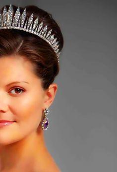Princess Victoria of Sweden Victoria Prince, Princess Victoria Of Sweden, Crown Princess Victoria, Princess Jewelry, Royal Jewelry, Jewellery, Royal Tiaras, Tiaras And Crowns, Royal Brides