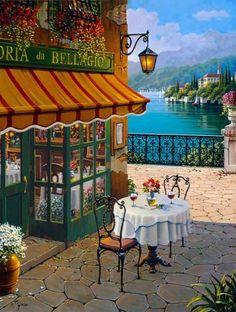 Bellagio, Italy on Lake Como...Bellagio Cafe, by Robert Pejman: