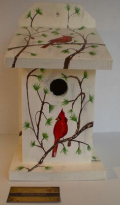 hand painted birdhouse ideas | Invierno - Bird House