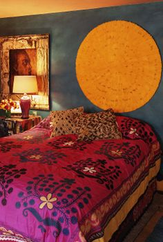 I think this is how I am going to redo my bedroom! Love the yellow thing!!
