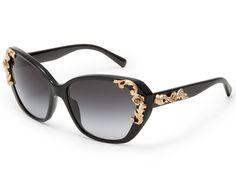 Dolce & Gabbana Women Eyewear Oversized Sunglasses - Sicilian Baroque Standard Fall Winter 2013 Special Collection
