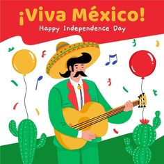 Happy Independence Day, Vector Free, Mexico