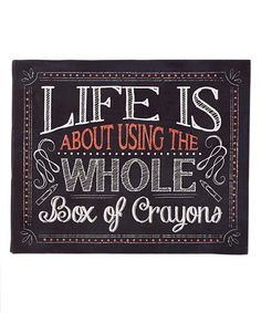 'Life Is About' Wall Sign | zulily