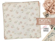 Digital Paper  12x12 Scrapbook Antique Background by DIYVintageArt, $1.20