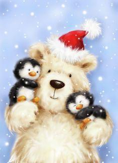 Christmas Scenes, Christmas Pictures, Christmas Art, All Things Christmas, Vintage Christmas, Christmas Holidays, Christmas Decorations, Christmas Ornaments, Christmas Drawing