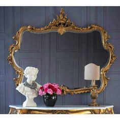 Miss Lala's Gold Looking Glass | Luxury Mirror - Gold French Bedroom Luxury Mirror